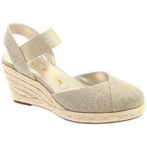 New Anne Klein Acer Natural Gold Wedge Sandal